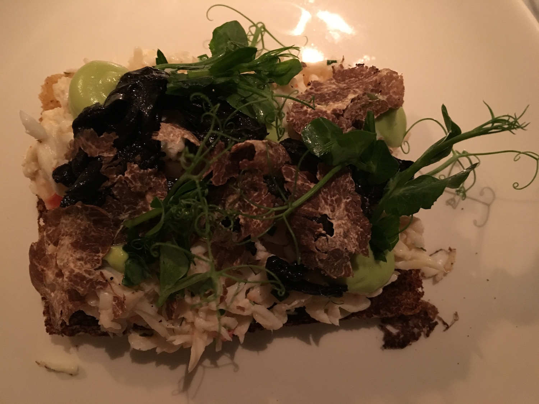 king krab toast met truffel