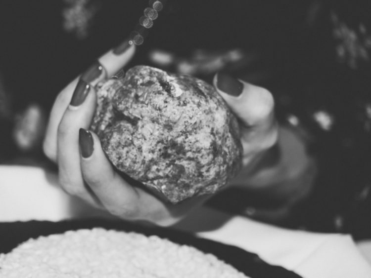 Een reuze witte truffel