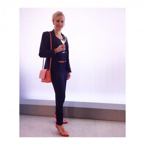 Mijn outfit: Jumpsuit van Zara, jasje Filippa K, tas Furla, schoenen Christian Louboutin en MAC So Chaud lipstick