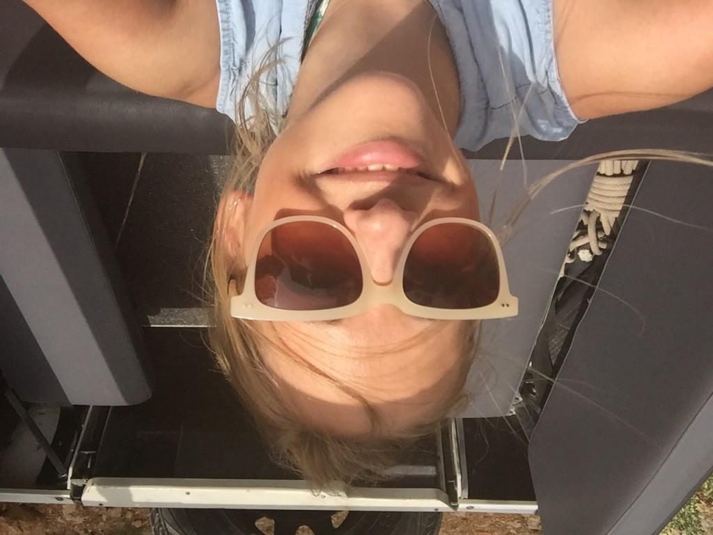 Met make-up op in de zon