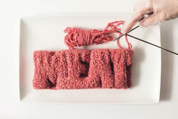 Next Nature Network. InVitroMeatCookbook recipe knitted meat