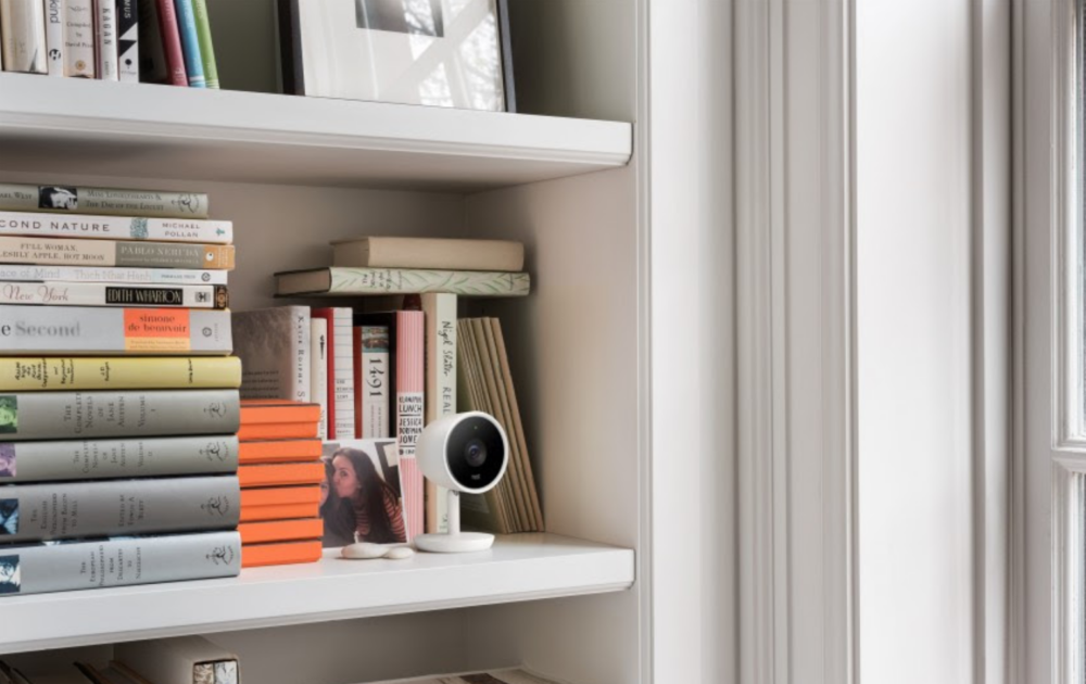 nest camera in huis