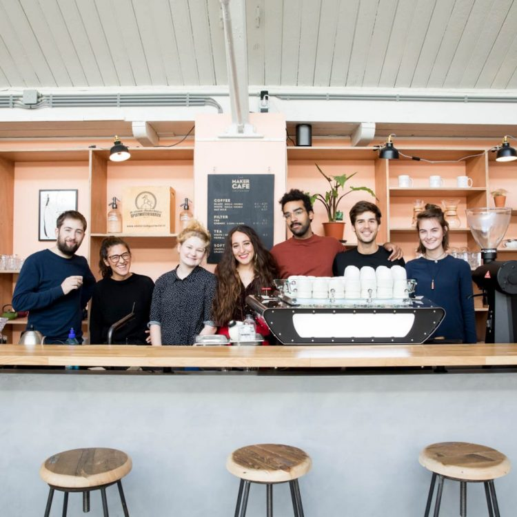 the maker cafe team