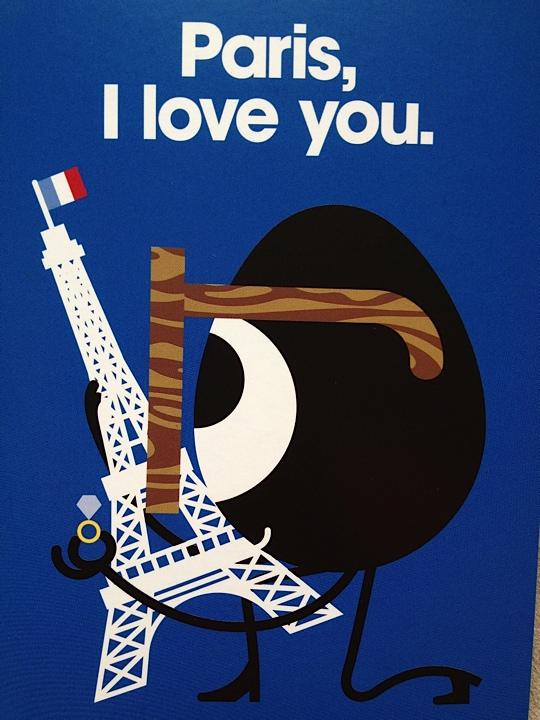 Colette kaart Paris I Love You