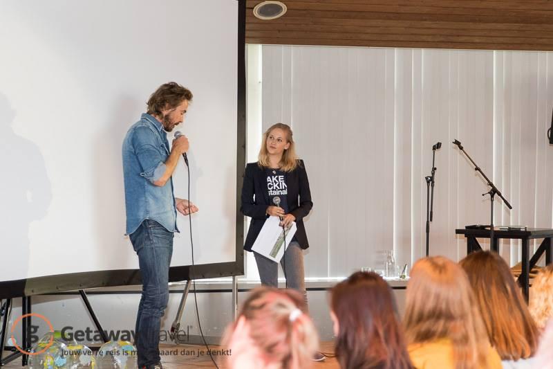 chris zegers bij het getaway academy xl launch event