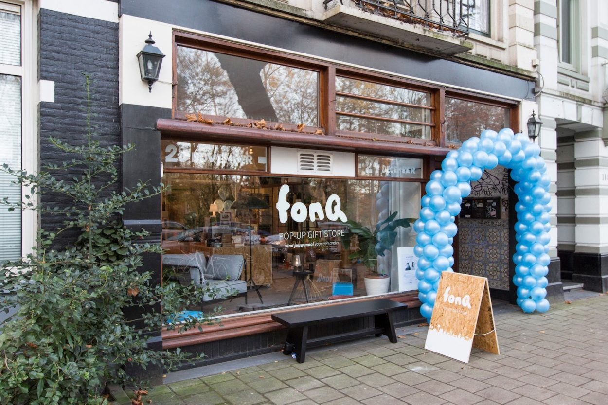fonq pop-up giftstore amsterdam