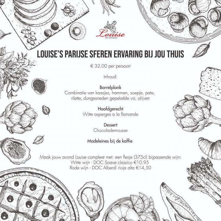 Louise Petit Restaurant Menu